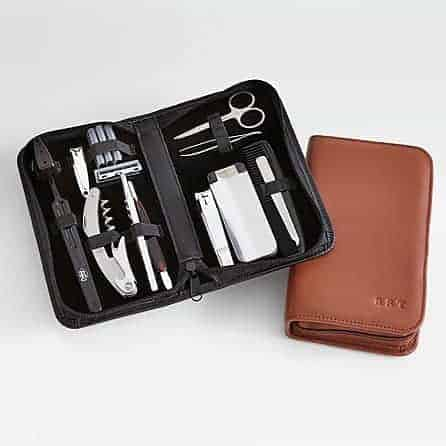 Leather Travel Grooming Set Giftscom | Valentine's Day Gift Ideas | OPAS Blog