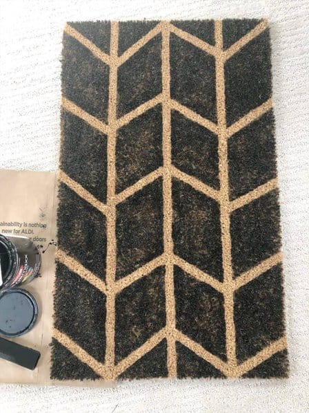 stenciled doormat
