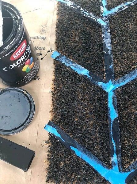 painting a doormat