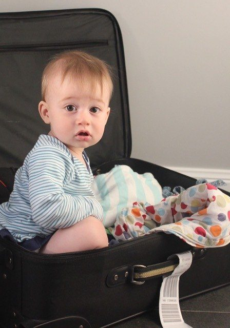 Pack strategically for long haul flights with a baby
