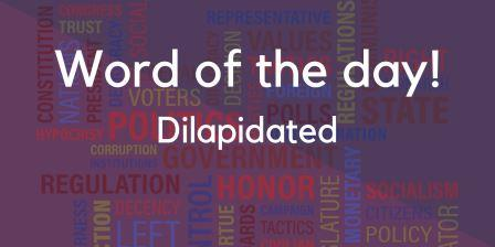 Dilapidated Meaning in Hindi