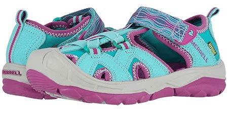 Sneaker-like merrell hydros are sturdy to outdoorsy girls in summer