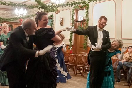 Dancers at Victorian Christmas Cowtown