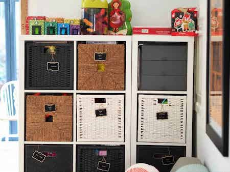 Toy Storage Ideas: Cube Storage With Baskets