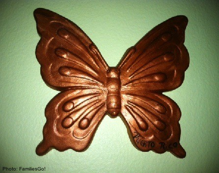 a butterfly we bought from a vendor in Old San Juan