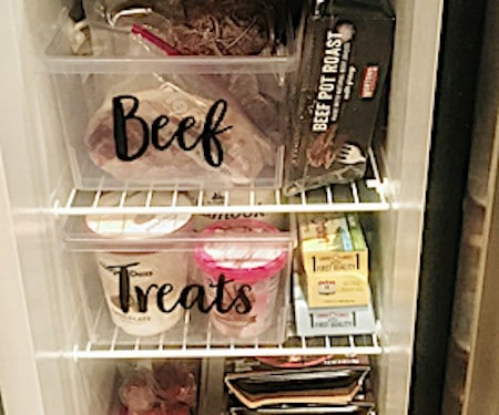 Organize your stand-up freezer