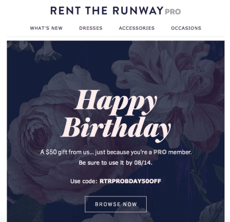 Happy birthday- email marketing subject lines