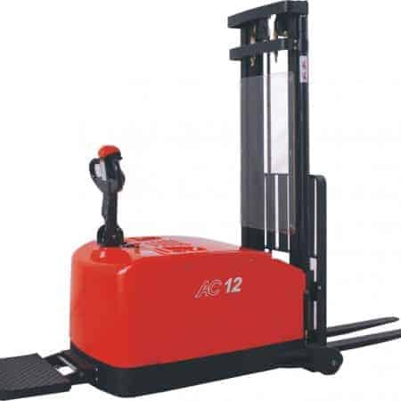 Electric AC Powered Counterbalance Pedestrian Stacker Truck 0.6/1.2/1.6t