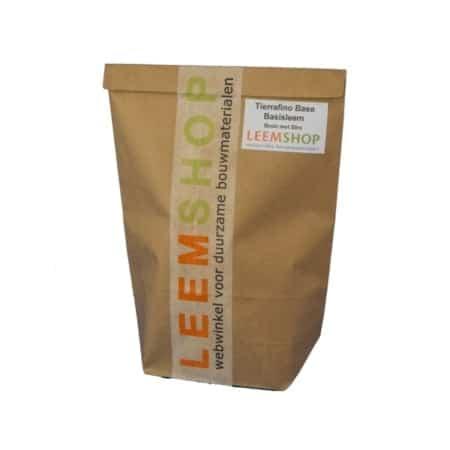 Tierrafino Base Basisleem, bruin en droog met stro, proefverpakking