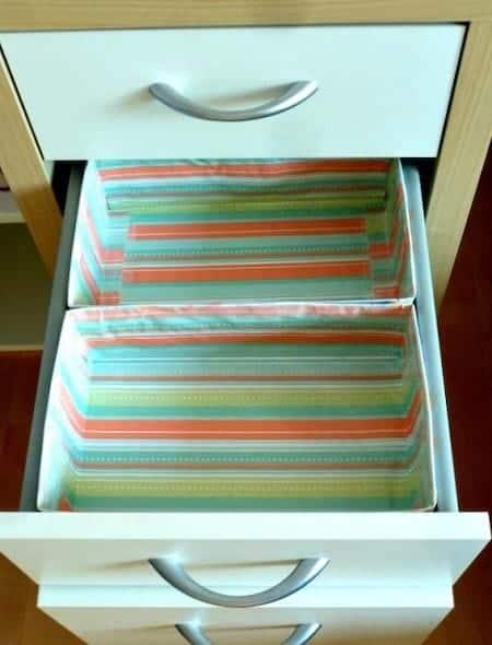 Organize home office supplies: DIY drawer organizers