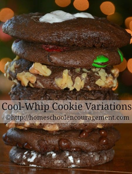 Cool WhipLooking for an easy cookie recipe?  Try these quick, 3 ingredient cool whip cookies that can be made in a variety of flavors.  Included is a FREE printable shopping list and recipe.