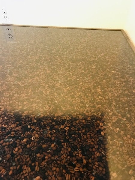 Coffee Station Resin Countertop