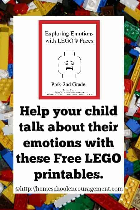 It is important that we talk to our children about how to deal with his emotions in healthy ways.  These FREE Lego printables are for you to use so to start talking about emotions with your kids. #lego