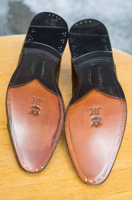 JR soles with closed channels, though not the neatest of workmanship.