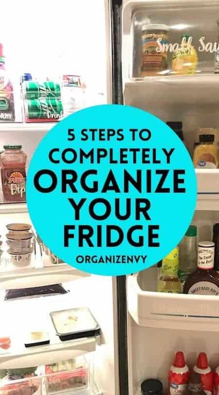 organize a side-by-side refrigerator
