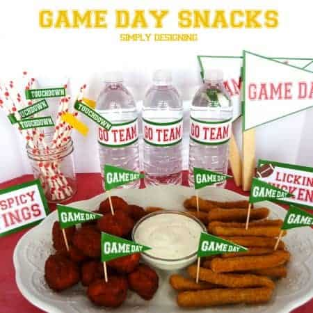 game day printables