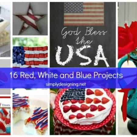 Red White and Blue Project Ideas