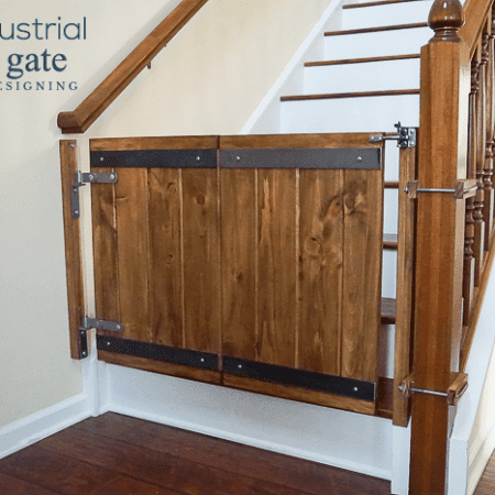 Industrial DIY Baby Gate - this is such a unique and beautiful diy baby gate option