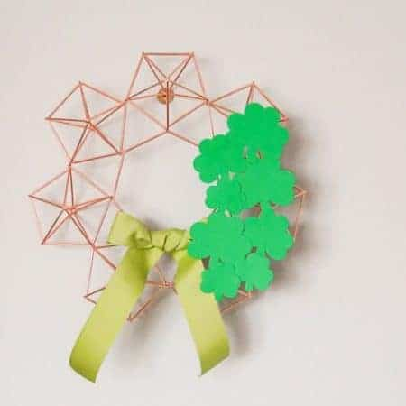 Himmeli Wreath with Shamrocks