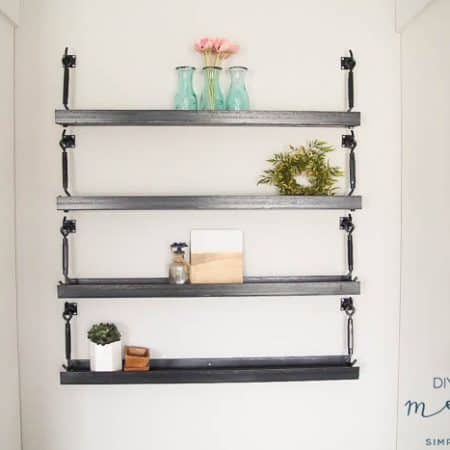 DIY Industrial Metal Shelves