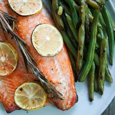 Honey Lemon Grilled Salmon - baked salmon in foil