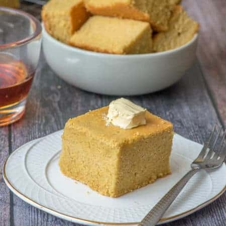 Cornbread with a knob of butter