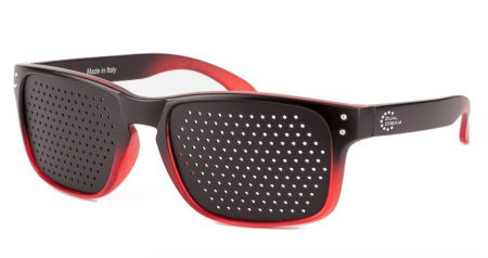 Occhiali stenopeici Modern Black in Red Dual Dream ®
