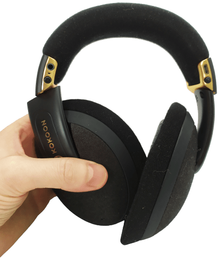 Image shows the Kokoon headphones with dust and cat fur on them.