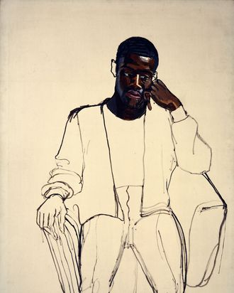 Alice Neel, James Hunter Black Draftee, 1965