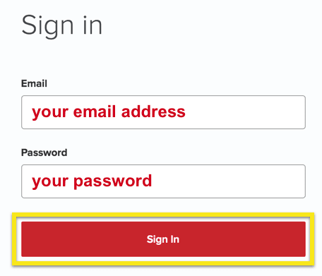 ExpressVPN Sign in page with Sign In button highlighted.
