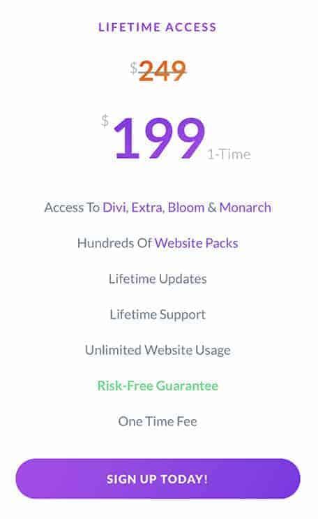 divi lifetime access