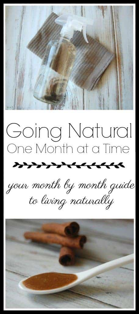 Looking for a way to start living naturally without feeling overwhelmed by all the changes you need to make? Here is a great month by month natural living guide. Each month focuses on one area of natural living and walks you through the whys and hows of that natural living topic! #naturalliving #monthbymonth #12months #greenliving