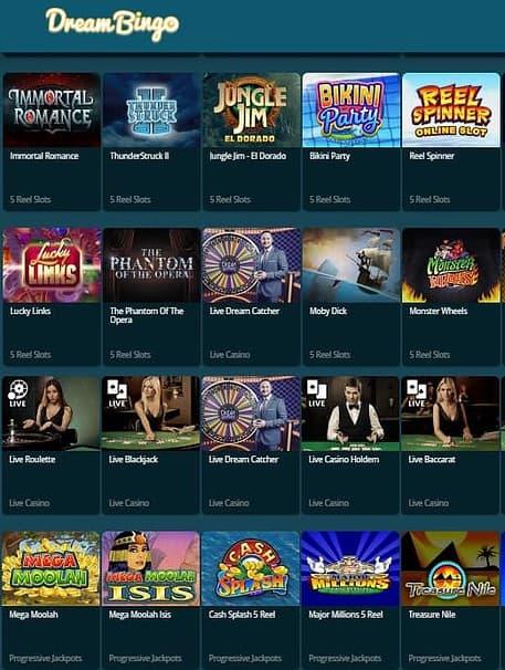 Dream Bingo Casino UK - free games, free bonuses, free spins