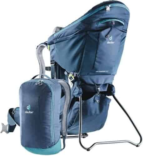 The deuter child carrier is light and sturdy, ideal for long hikes with toddlers.