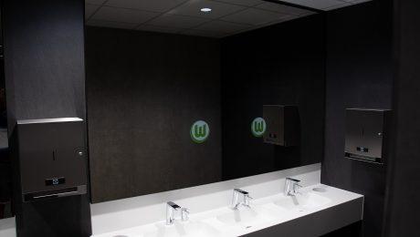 smart mirror signage stadion