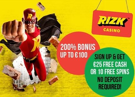 Welcome Bonus at Rizk.com Casino