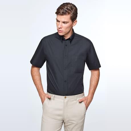 Camisa manga curta Homem Preta