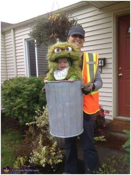 Oscar the Grouch from Sesame Street. - Cute Kids Halloween Costumes! Over 25 of the Best DIY Halloween Ideas to inspire you on Trick or Treat night!