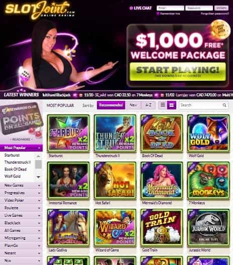 Website: games, bonuses, promotions, banking, support