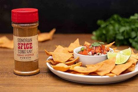 Ghost Pepper Salsa and Homemade Tortilla Chips
