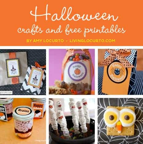Halloween Craft Ideas | Free Party Printables |  Living Locurto | Amy Locurto