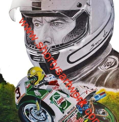 Joey Dunlop Rc30 .Limited edition print.