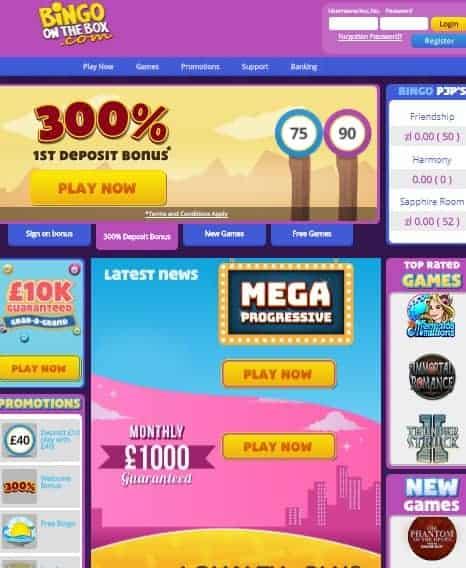 Bingo On The Box Online & Mobile Casino