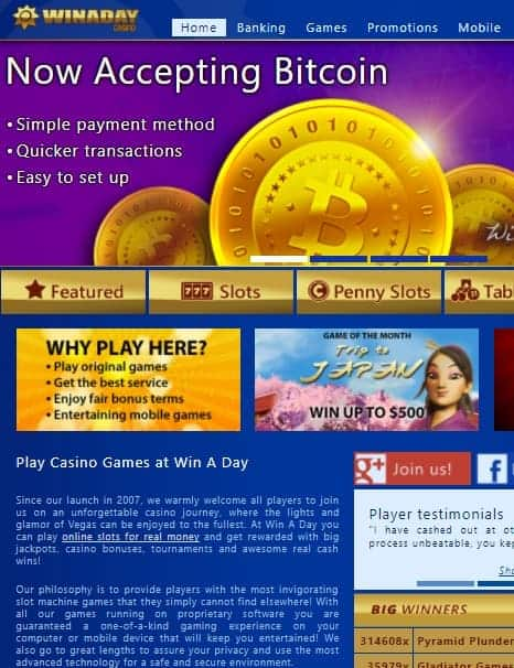 WinADay Casino Full Review