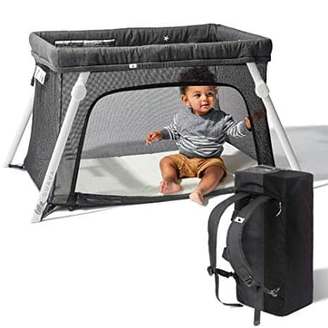Lotus Travel Crib - Backpack Portable, Lightweight, Easy to Pack Play-Yard