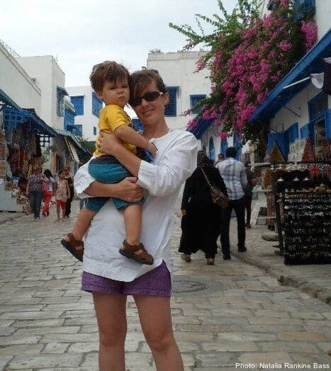 Single parent and her toddler son traveling the world