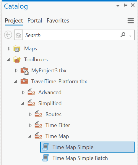 Time map geoprocessing tool in ArcGIS.
