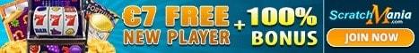 $7 no deposit bonus or 70 gratis spins