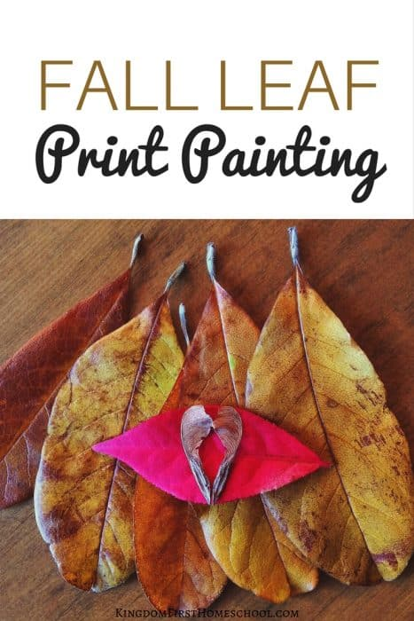 Check out this Fall Leaf Print Painting Project that is super easy for young kids.