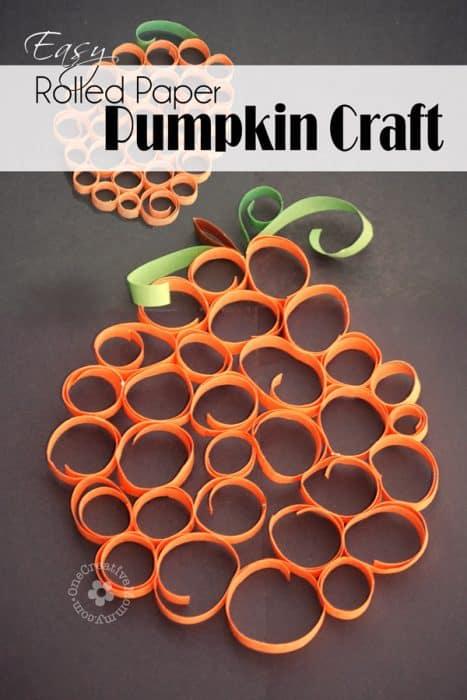 rolled pumpkin craft